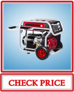 A iPower SUA12000E 12000 Watt Gasoline Powered Generator with Electric Start Red Black