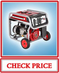 A-iPower SUA4500 4500 Watt Gasoline Powered Portable Generator Wheel Kit Included